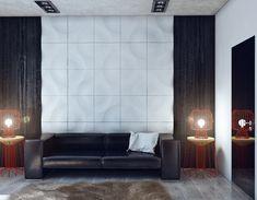 Minimalistisches Design Junggesellenbude couch weiß wand lampe