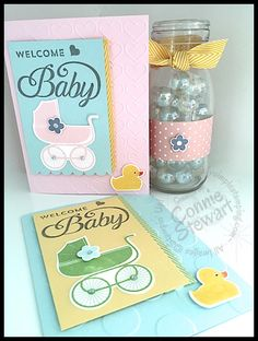 FLASH CARD - Welcome Baby by Connie Stewart - www.SimplySimpleStamping.com - May 12, 2015