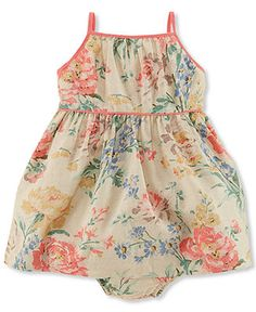 Ralph Lauren Baby Girls' Floral Dress - Kids Baby Girl (0-24 months) - Macy's $28