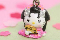 Geisha Kitty cell strap  ebay seller: happyshopping8899