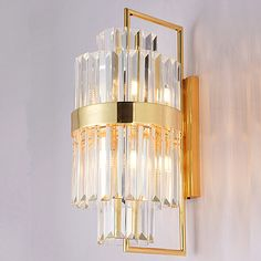 新款现代奢华水晶壁灯别墅复式楼梯间样板房定制大水晶块壁灯-淘宝网