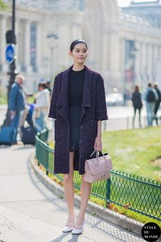 Paris FW SS15 Street Style: Ming Xi - STYLE DU MONDE | Street Style Street Fashion Photos