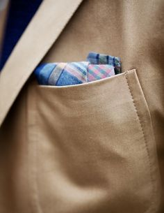 Bow Tie doubling as a pocket square
