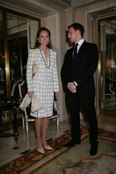 Isabel Preysler with Gonzalo Miro(grandson of Joan Miro)