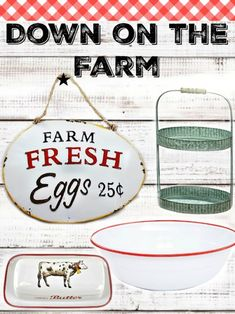 Cute Farmhouse Style home decor items and where it get them! Click here!