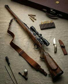 Guns and rifles plus military weapons