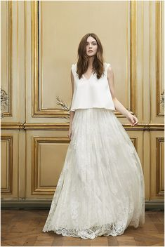bohemian french wedding dress read more at http://www.frenchweddingstyle.com/delphine-manivet-2015-collection/