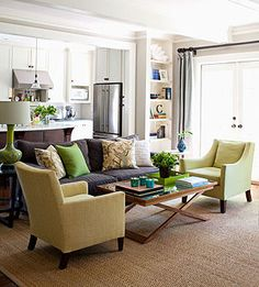 With classic furnishings, a living space can be practical for family activities as well as inviting for guests.