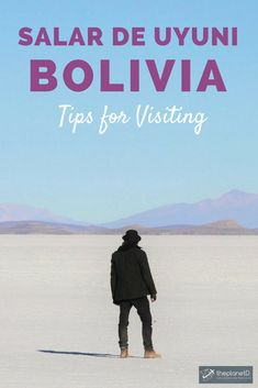 A complete guide to visiting Salar De Uyuni in Bolivia, an expansive salt flat that makes for some incredible photography and other-worldly scenery. Practical tips for visiting including how to choose a tour provider, what to wear, and towns to depart and return from. Travel in South America. | Blog by the Planet D #Bolivia #SouthAmerica #SouthAmericaTravelSalarDeUyuni