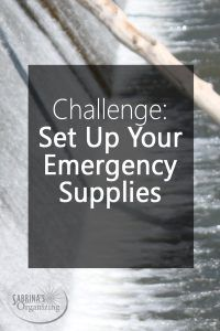 Challenge-set up your emergency supplies - Do you have your hurricane supplies in order?  This month is National Preparedness month and it's a great time to set yours and your families up.