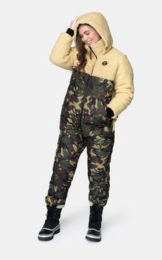 The latest comfortable adult onesies for men and women. Shop at Onepiece today. Nylons, Puffer Jackets, Winter Jackets, Cute Couple Outfits, Winter Suit, Unisex Clothes, Basic Tees, Snow Suit, Happy Campers