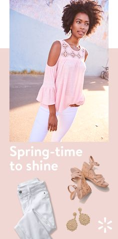 c5014d74f47 Spring into the new season with fashion-forward outfit ideas from Walmart.  Prep your