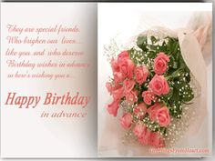7 best advance birthday wishes images on pinterest special birthday wishes in advance greeting cards m4hsunfo