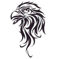 Tattoo of a Eagle tribal