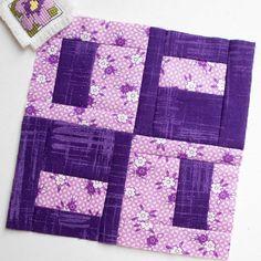 100 Modern Quilt Blocks - Block 19 - 'Furby'.