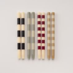 such cute striped tapered candles