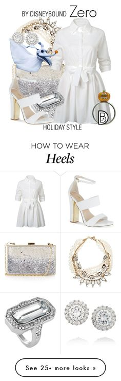 """""""Zero"""" by leslieakay on Polyvore featuring Kenneth Jay Lane, Topshop, Lulu Frost, WithChic, Louise et Cie, Carvela, disney, disneybound and disneycharacter"""
