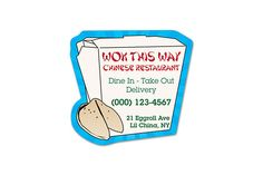 Advertise your Chinese Restaurant in a unique way with a promotional Chinese Food Magnet.  World's Greatest Magnets offers magnets cling perfectly to any metal surface within your customer's home.  Appropriately placed on a refrigerator door, customers will appreciate your uniquely personalized token. #wgmagnets