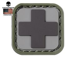 Emerson Medic Square PVC Patch Mini Patch Outdoor Airsoft Tactical Military Hunting Morale Patch Rubber Morale Gear Patches $