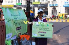 Let Me Also Breathe – Drive against Air Pollution at Connaught Place, New Delhi