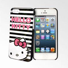 Hello Kitty Black Stripes iPhone 5 Cases