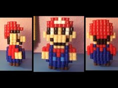 3D Perler Bead Mario! - YouTube