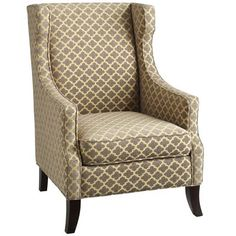 Alec Wing Chair - Lattice for Pier 1..really?! The lines are great on this very inexpensive chair. Reupholstered, with a down seat cushion. Voila! Still a great saving @ $450.00.