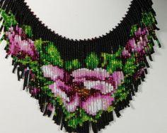 TUTORIAL. Collar bordado del grano semilla por GuzialiaReedJewelry