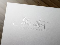 Copyright Aileen Burkhardt / punze typografie Logo Make-up Artist
