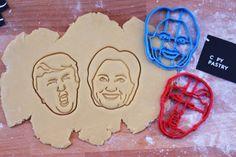 Hillary + Trump cookie cutters