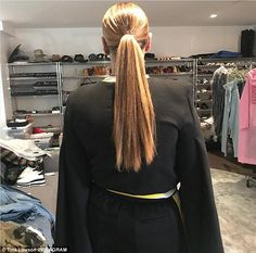 Growing! Tina Knowles took to Instagram on Saturday afternoon to show off her daughter Beyonce 's lusciously long hair