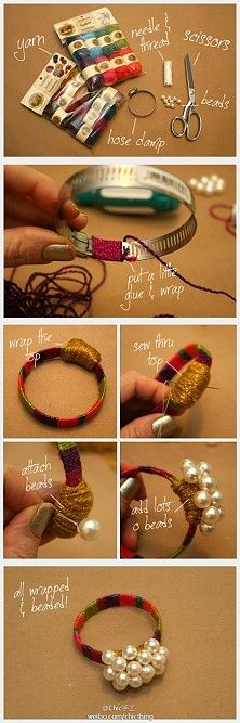 How to make a bracelet out of a hose clamp!