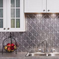 Fasade Monaco Crosshatch Silver Backsplash Panel | Overstock.com Shopping - The Best Deals on Backsplash Tiles
