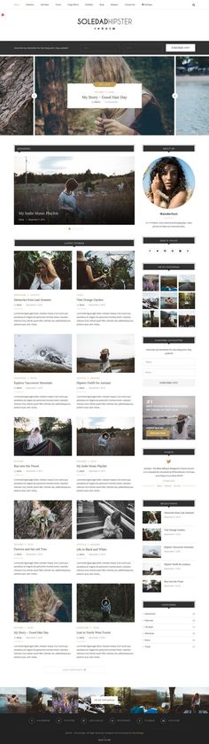 Hipster Magazine Theme for Wordpress