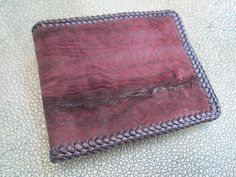 shark  Bifold wallet  Brown lacing by Ossora on Etsy
