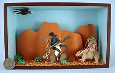 Wombats and Wallabies: Outlaws of the Outback April 2010. There was about a 6 - 12 month period when I was obsessed with the idea of going to Australia. I was going to do one of those volunteer vacations and help conservations efforts for one particular type of wallaby. I didnt end up going but did make this silly and playful diorama.- Miranda Brandon makes-my-brain-buzzzzzzzz
