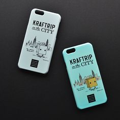 KRAFTRIP IN THE CITY iPhone case  -Blue & Gray