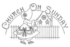 Vintage Sunbonnet DOW Embroidery Transfers