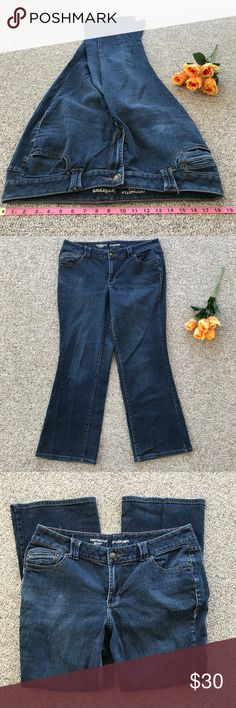 Nwt Sz 20 Avg Lane Bryant Womens Dark Blue Distinctly Boot Stretch Denim Jeans