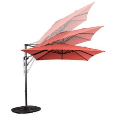 PatioDepot® Roma Aluminum X Square Offset Cantilever Umbrella Offset Patio Umbrella, Outdoor Patio Umbrellas, Cantilever Umbrella, Outdoor Decor, All Us States, U.s. States, Small Terrace, Canopy, Usa