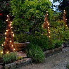 garden obelisk garden lighting ideas beautiful garden path decoration