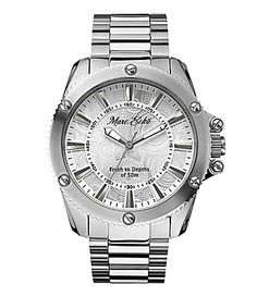 e7b0cdc6ca6 Marc Ecko Silvertone Flash Bracelet Watch  Dillards