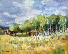 After Rain - Stefan Luchian Post Impressionism, Art Database, Art History, Art Nouveau, Watercolor, Fine Art, Landscape, Artwork, 1 Februarie