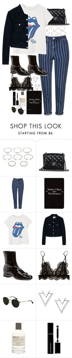 """Untitled #10770"" by nikka-phillips ❤ liked on Polyvore featuring Forever 21, Chanel, Topshop, Rich and Damned, MANGO, Acne Studios, Gucci, Isabel Marant, Ray-Ban and Nadri"