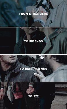 From strangers, to friends, to best friends, to - #spn #destiel