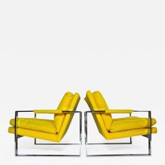 Pair of Milo Baughman Chrome Frame Lounge Chairs For Sale at Alex Rodriguez, Cool Furniture, Modern Furniture, Milo Baughman, Home Office Decor, Home Decor, Modern Chairs, Modern Lounge, Chairs For Sale