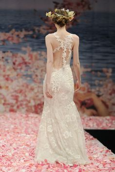 Woodland, Forest, Garden wedding dress ! by Claire Pettibone I love the back, but hate the mermaid cut