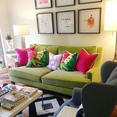 Wonderful Alex Eben Meyer | Decorating | Pinterest | Couch Pillows, Living Rooms And Green  Sofa