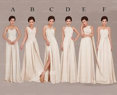 chiffon long bridesmaid dresses cheap bridesmaid dress by okbridal, $126.00