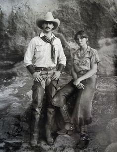 """Texas ranching couple, Photo from """"The North American Cowboy: A Portrait,"""" written and photographed by Jay Dusard, Consortium Press, Real Cowboys, Cowboys And Indians, Cowboy Art, Cowboy And Cowgirl, Cowboy Ranch, Vintage Cowgirl, Whitetail Bucks, Texas History, Mountain Man"""